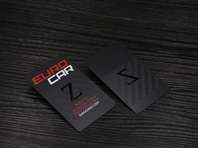 Texture Black Metal card