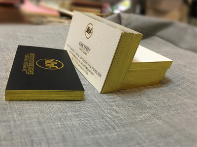Gold Foil Edge Paper card