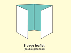 8P leaflet (double gate fold)