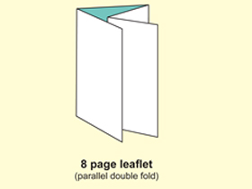 8P leaflet (Parallel double fold)