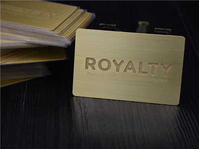 Brushed Business card