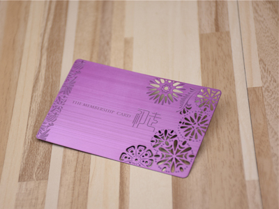 Red/Purple/Blue/Rose Metal Card